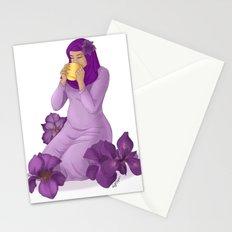 Violet Irises Stationery Cards