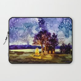 Camp-fire under the Milky Way  Laptop Sleeve