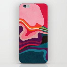 liquid shapes iPhone Skin