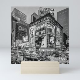 Times Square III Special Edition I (black & white) Mini Art Print