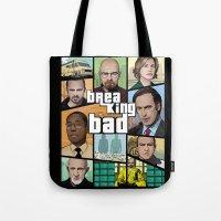 gta Tote Bags featuring Breaking Bad GTA HD  by Akyanyme