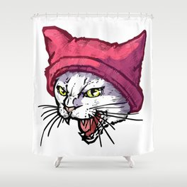 The Cat in the Hat (White) Shower Curtain