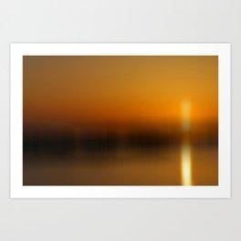 Evening Gold Art Print