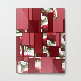 Red Rose with Light 1 Art Rectangles 8 Metal Print