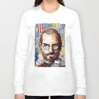 steve jobs Long Sleeve T-shirts featuring Steve Jobs by Mariogogh
