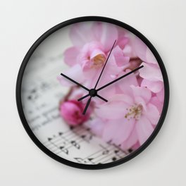 Song of the Cherry Blossom Wall Clock