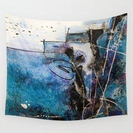 Midnight Sky, Acrylic artwork Wall Tapestry