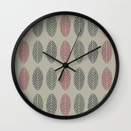 Hojarasca Wall Clock