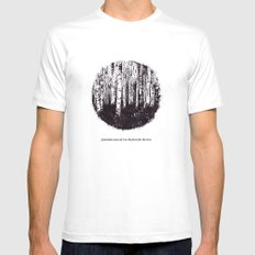You can't see the forest for the trees Mens Fitted Tee White MEDIUM