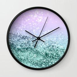 Mermaid Girls Glitter #4 #shiny #decor #art #society6 Wall Clock
