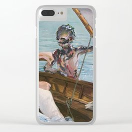 Boating on Friday the 13th Clear iPhone Case