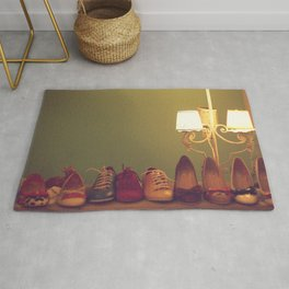 Dancing Shoes and Heels (retro and vintage girly shoes and heels with a lovely lamp) Rug
