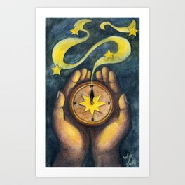 Compass of the Stars Art Print
