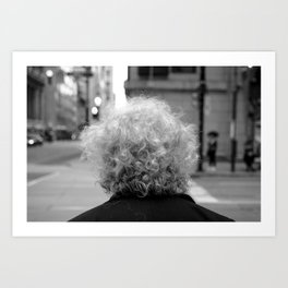 Labyrinth of life, street photography print, black and white, urban art Art Print