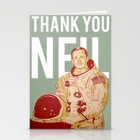 neil gaiman Stationery Cards featuring Thank You Neil by jnk2007
