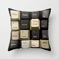 Custom Keyboard Throw Pillow