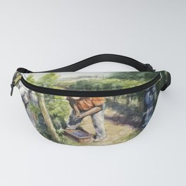 Vineyard Watercolor Landscape Wine Grapes Nature Fanny Pack