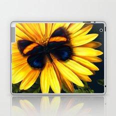 Butterfly on yellow Laptop & iPad Skin
