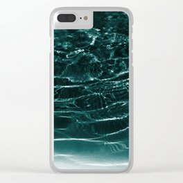 Dark Night Teal Ocean Dream #1 #water #decor #art #society6 Clear iPhone Case