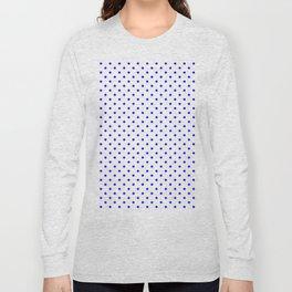 Dots (Blue/White) Long Sleeve T-shirt