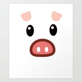 pig chinese new year year funny gift Art Print