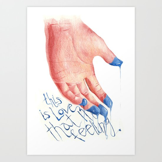 this is LOVE Art Print