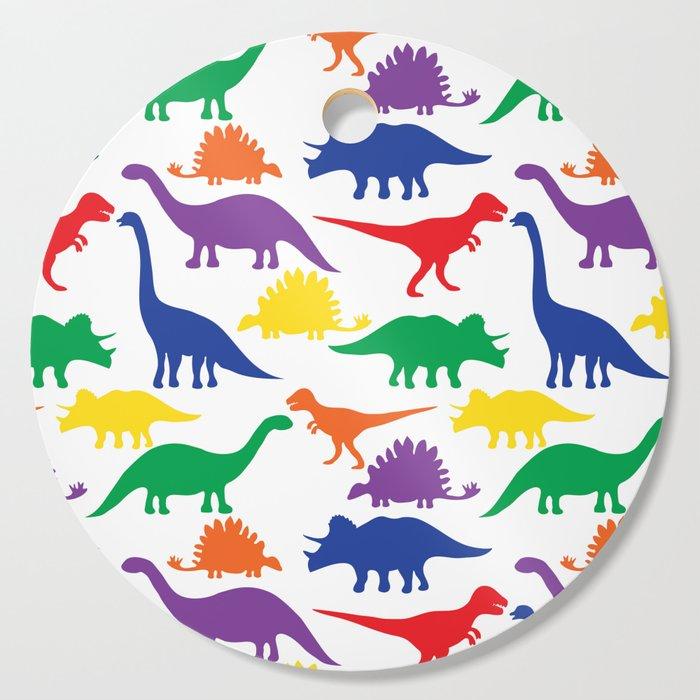 Dinosaurs - White Cutting Board