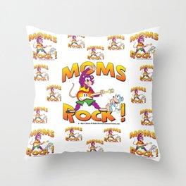 Moms Rock Pattern Throw Pillow