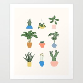 House Plants For Life Art Print