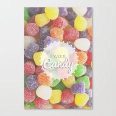I Want Candy: Gumdrops Canvas Print
