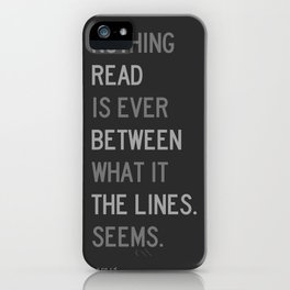 Lines / First Version / Mono iPhone Case
