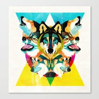 wolves Canvas Prints featuring wolves by Alvaro Tapia Hidalgo