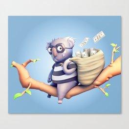 Koala Burglar Canvas Print