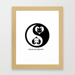 Yin Yang Kitty Valentines Day Framed Art Print