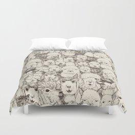 just alpacas natural Duvet Cover