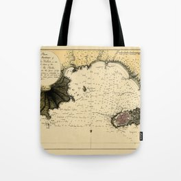 Map Of Montevideo 1789 Tote Bag