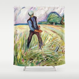 The Haymaker by Edvard Munch Shower Curtain