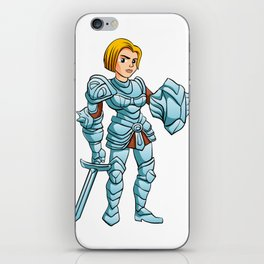 Warrior Princess With Battle sword and Shield iPhone Skin