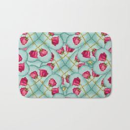 Love Motif Pattern Print Bath Mat