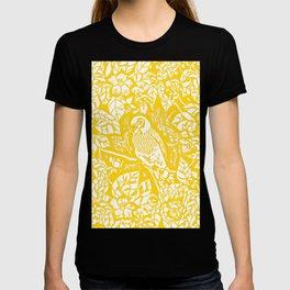 Gen Z Yellow Parakeet Lino Cut T-shirt