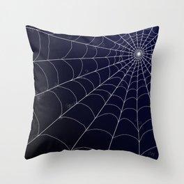Spiderweb on Midnight Throw Pillow
