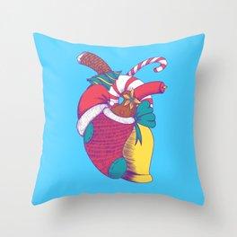 Christmas Heart Throw Pillow