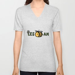 Lesbian Bumble Bee Unisex V-Neck
