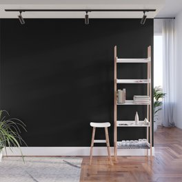 #000000 PURE BLACK Wall Mural