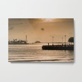 Newcastle Harbour Dawn Photography Metal Print