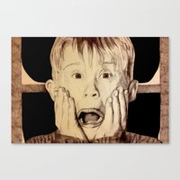 home alone Canvas Prints featuring Home Alone by DeMoose_Art