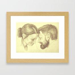 Kiera and Brad Framed Art Print