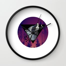 Witchy Wolf Wall Clock