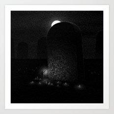 Drawlloween 2016: Grave Art Print