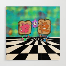Peanut butter jelly time! Wood Wall Art
